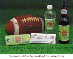 Choose party favors from www.customfavors.com for the perfect sports themed party