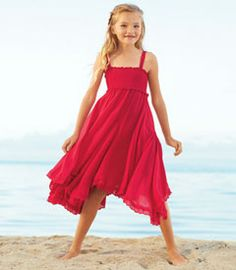 red fairy dreams dress - With a dress this flowy and fun, we'd be surprised if she ever sits still. The flared godets add plenty of twirl, while the shirred top gives a smooth fit. You'll also like sweet details such as adjustable straps made of ribbon woven through eyelet lace, and the lace-trimmed hem.