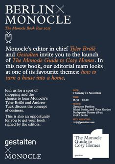 Invitation | The Monocle Guide to Cosy Homes Tour | Berlin