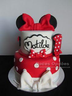 Doces Opções: Bolo de aniversário Minnie