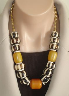 That is fantastic......ASHIRA Large Brown & White Cream African Batik by AshiraJewelry, $165.00