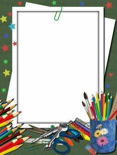 Boarder Designs, Frame Border Design, Page Borders Design, Page Borders Free, Back To School Wallpaper, Background For Powerpoint Presentation, School Border, Boarders And Frames, School Frame