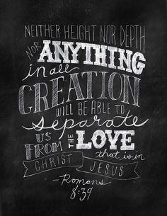 Romans 8:39. forever fancy