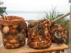bull kelp baskets...Lasqueti Island ladies