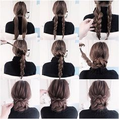 25 coole Frisuren für den Sommer 2019 25 cool hairstyles for the summer of 2019 Cute Simple Hairstyles, Pretty Hairstyles, Stylish Hairstyles, Hairstyle Short, Summer Hairstyles, Cute Updos Easy, Easy Bun Hairstyles For Long Hair, Wedding Hairstyles, Pulled Back Hairstyles