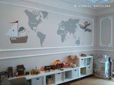 #habitacionesinfantiles pintadas por #stencilbarcelona