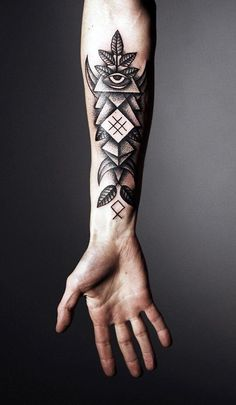 Forearm tattoo abstract