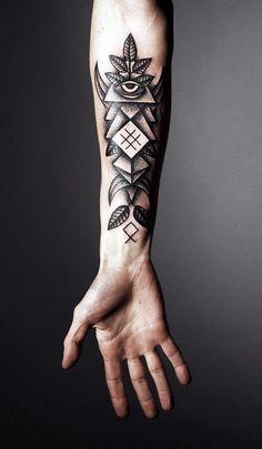 Forearm tattoo abstract