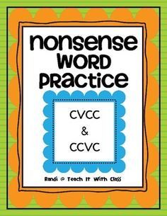 You are downloading 28 nonsense words cards that all follow a CVCC or CCVC pattern.  Continued vowel practice with slightly more challenging words ...