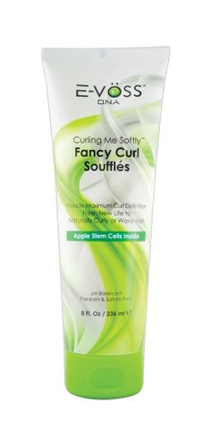 Curling Me Softly Fancy Curl Souffle 8 oz.  It is a nourishing styling product used to create medium-weight frizz-free curls that contains nature's miracle shea butter and pro-vitamin B5 to nourish and repair damaged hair. For normal to fine hair. A small amount goes a long way to achieve perfect curls.
