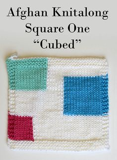 "Ravelry: Don't Be a Square Afghan - Block One ""Cubed"" pattern by Amy Gunderson"