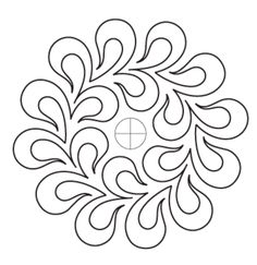Feather Garland Block 1 - Digital - Quilts Complete - Longarm Continuous Line Quilting Patterns Hand Quilting Designs, Machine Quilting Patterns, Quilting Stencils, Quilting Templates, Quilting Tutorials, Quilt Patterns, Quilt Designs, Patchwork Quilting, Quilt Stitching
