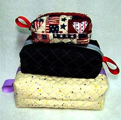 Quick and easy to stitch, these handy Box Bags with zipper closure are available from Sew AZ Embroidery in three sizes.