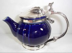 This extremely rare china and silverplate Hotel Ritz, Paris teapot fetched 560 dollars on eBay.