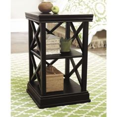 Love this as an end table for the sectional in the kitchen.