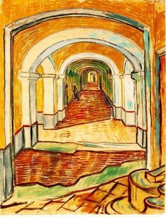Vincent van Gogh Corridor in the Asylum 1889