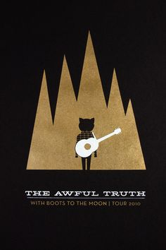 """""""The Awful Truth"""" poster by Bryony Gomez-Palacio (UnderConsideration LLC) - 2010"""