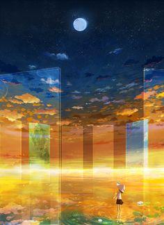 【壁紙】2次元の幻想的な風景・夜景の画像part2 : 禿同ニュース速報|まとめサイト