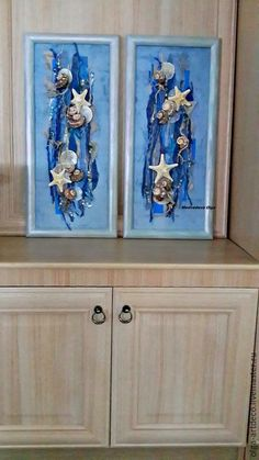 Абстракция ручной работы. Ярмарка Мастеров - ручная работа. Купить панно,коллаж, картина. Handmade. Тёмно-синий, раковина