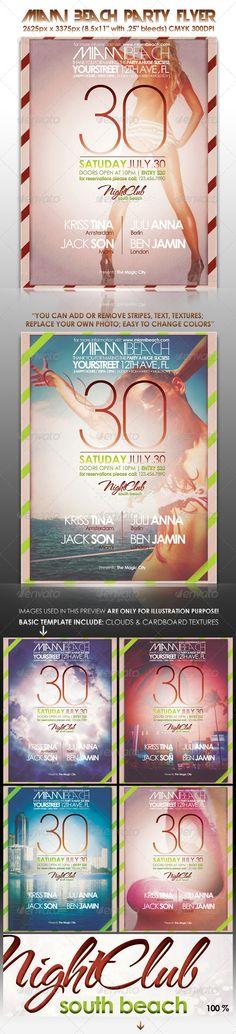 Miami Beach Party Flyer