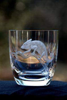 Veiled chameleon I. by Glypticglass on Etsy