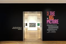 Installation view of Abstract Expressionist New York: The Big Picture. Courtesy of The Museum of Modern Art, New York. Photo: Jason Mandella