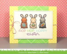 Lawn Fawn February Inspiration Wee: Hoppy Easter, Happy Hatchling & Easter Border