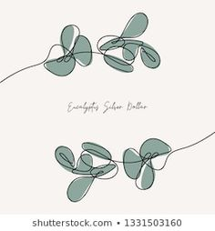 Eucalyptus silver dollar branch continuous line drawing. Single Line Drawing, Continuous Line Drawing, Leaf Drawing, Drawing Art, Posters Diy, Collateral Design, Tattoo Graphic, Plant Illustration, Word Pictures