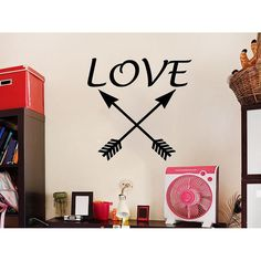 Arrows Love Feather Arrow Bohemian Decor Indie Boho Fashion Sticker Decal size 22x22 Color