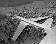 Unveiling of Boeing's prototype for the 707 jet at Renton Fields, 1954 by IMLS DCC Boeing 707, Boeing Aircraft, Old Planes, Seattle Area, Vintage Air, Jet Plane, Air Travel, View Source, Airplane View
