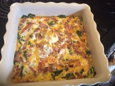 Basic, easy recipe.  One large bunch of rainbow chard, chopped up. Sautée in bacon drippings until soft. You can add in garlic, salt, pepper, crushed red pepper, onion ect.. Place in a square dish, add cheddar cheese on top, as much as you like. Add about 8-10 eggs, again, as much as you like. Bake in the oven about 30 or so minutes, watch to see the top is cooked through.