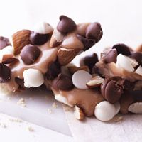 Two different kinds of chocolate and toasted almonds make classic buttery toffee even more delicious.