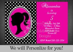 Barbie invitation Invitación de Barbie por CelebrationDesignz