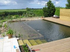 A wonderful example of how an organic pool can adapt to any design approach.