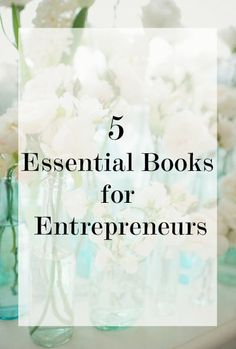 5 Key Reads for Entrepreneurshttp://bit.ly/Shaklee-Business-Training1. Never Eat Alone - Keith Ferrazzi2. The Startup Owner's Manual - Steve Blank and Bob Dorf3. Inspired - Marty Cagan4. Purple Cow - Seth Godin5. The Lean Startup - Eric Ries
