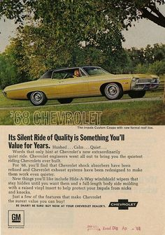 1968 Impala... my uncle bought one similar to this in '68, it got passed through the family until it got wrecked in '86-'87... #chevroletimpala1968