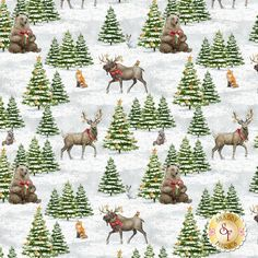 Friendly Gathering by Wilmington Prints: More arriving in May!Friendly Gathering is a darling Christmas collection by Michael Davis for Wilmington Prints. Please Note, this design runs length of fabric, with an approximately Wilmington Prints, Shabby Fabrics, Woodland Creatures, Christmas Projects, Note, Quilts, Christmas Ornaments, Holiday Decor, Collection