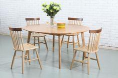 Magnus Round Dining Table - Solid Oak - 150cm Diameter