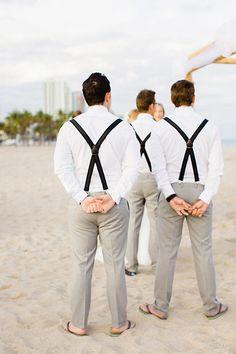 groomsmen beach look // photo by Elaine Palladino