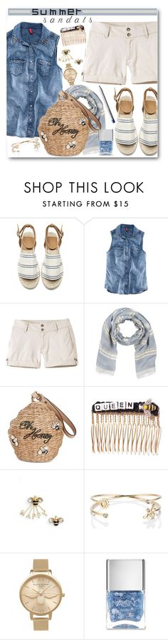 """The Cutest Summer Sandals"" by brendariley-1 ❤ liked on Polyvore featuring Chicnova Fashion, Mountain Khakis, Kate Spade, Venessa Arizaga, Olivia Burton, Nails Inc., Paula Dorf and summersandals"