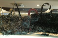 Ladies Faux Leather and Fur Shoulder Handbag borsa pelliccia Beutel sac 57,18 € su www.bandana.it