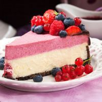 Chocolate raspberry mousse cheesecake