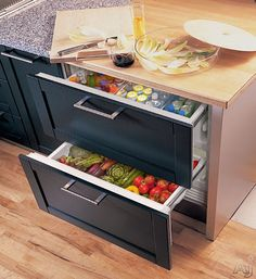 """Sub-Zero ID36RX 36"""" Integrated Double Drawer Refrigerator with 6.6 cu. ft. Capacity, Full Extension Drawers, LED Lighting, Interactive Control Panel and Touch Screen"""