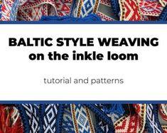 Inkle Weaving Patterns by inkleweavingpatterns on Etsy Inkle Weaving Patterns, Loom Patterns, Loom Weaving, Inkle Loom, Card Weaving, Woven Scarves, Bound Book, Weaving Projects, Pattern Books