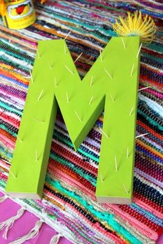 Create cactus letters for your next Cinco De Mayo or fiesta party. Mexican Fiesta Party, Fiesta Theme Party, Taco Party, 13th Birthday Parties, Birthday Party Themes, 40th Birthday, Birthday Ideas, Mexico Party, Mexican Birthday