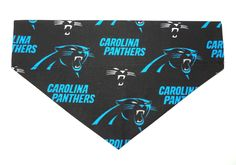 Dog Bandana Dog Scarf Over The Collar Bandana Dog Accessory Carolina Panthers NFL Football Bandana (6.00 USD) by DaisyMaeFabrics