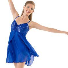 Sequin Camisole Dance Dress Costume; Balera Here She Is costume