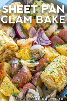 Special enough for your next party, but easy enough for any busy weeknight. Quick Weeknight Dinners, Quick Dinner Recipes, Yummy Recipes, 12 Tomatoes Recipes, Best Breakfast Recipes, Clams, Sheet Pan, Slow Cooker Recipes, Seafood Recipes