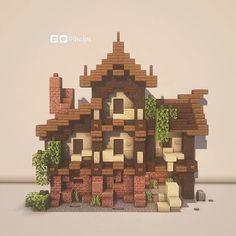 Plans Minecraft, Minecraft Farm, Minecraft Cottage, Minecraft Castle, Cute Minecraft Houses, Minecraft House Designs, Amazing Minecraft, Minecraft Tutorial, Minecraft Blueprints