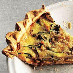 Zucchini and Caramelized Onion Quiche | MyRecipes.com